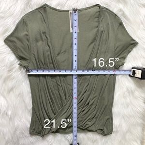 Free People Tops - Free People Draped Olive Green Blouse